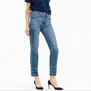 J. Crew Vintage High-Rise Straight Fray Jeans 28